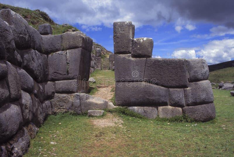 Ruines d'Inca dans Cuzco, Pérou. photo stock