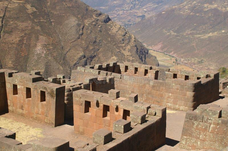 Ruines d'Inca dans Pisac image libre de droits
