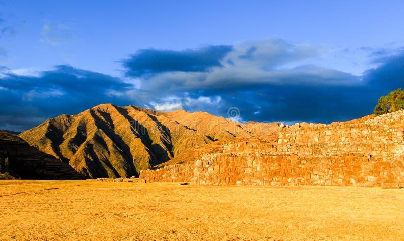 Ruines d'Inca Palace dans Chinchero, Cuzco, Pérou image libre de droits