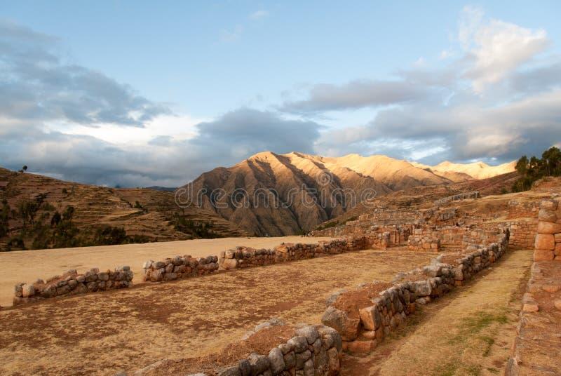 Ruines d'Inca Palace dans Chinchero, Cuzco, Pérou photographie stock libre de droits