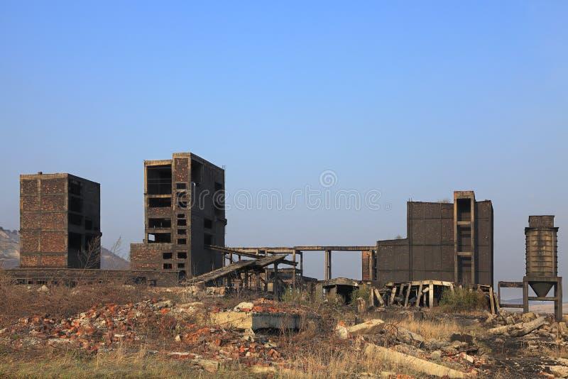 ruines d'industrie lourd image stock