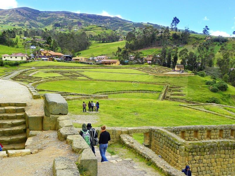 Ruines d'Ingapirca, province de Canar, Equateur images libres de droits