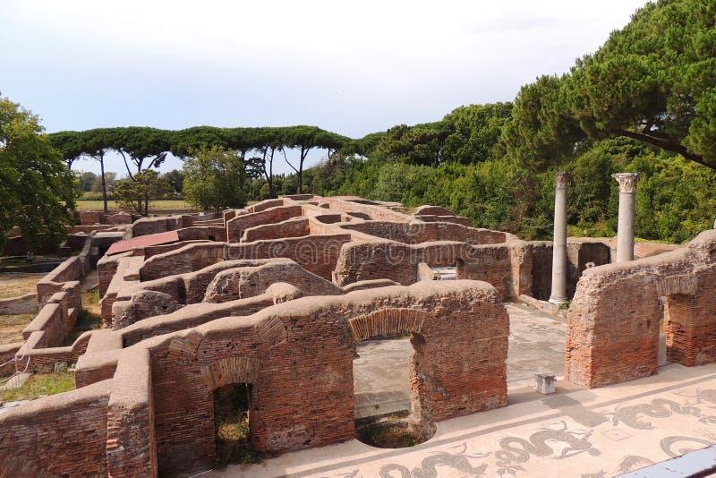 Ruines d'Ostia Antica photographie stock