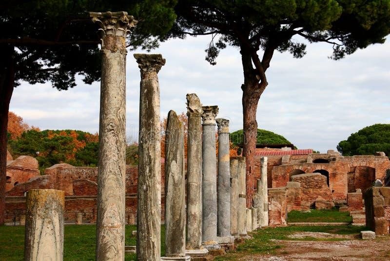 Ruines d'Ostia Antica images libres de droits