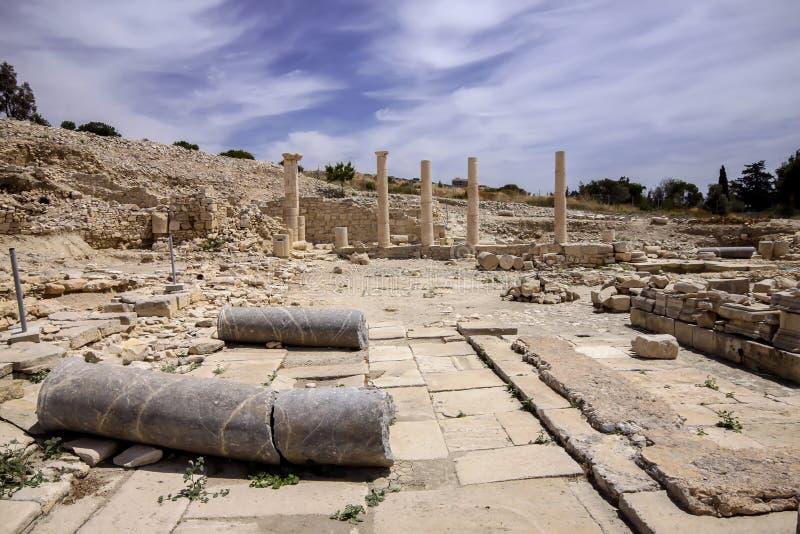 Ruines d'un Amathus médiéval, au nord de Lemessos, la Chypre photos stock
