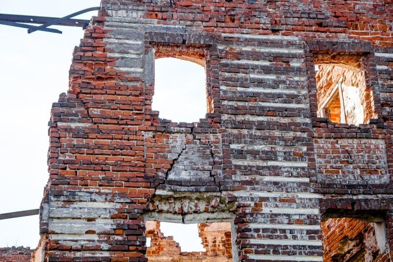 Ruines d'un manoir du 18ème siècle ruiné Belkino photos libres de droits
