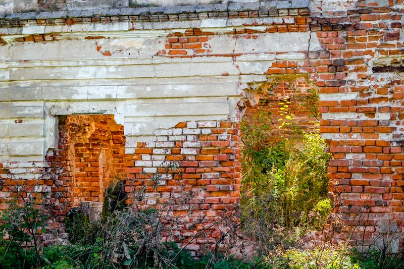 Ruines d'un manoir du 18ème siècle ruiné Belkino photographie stock