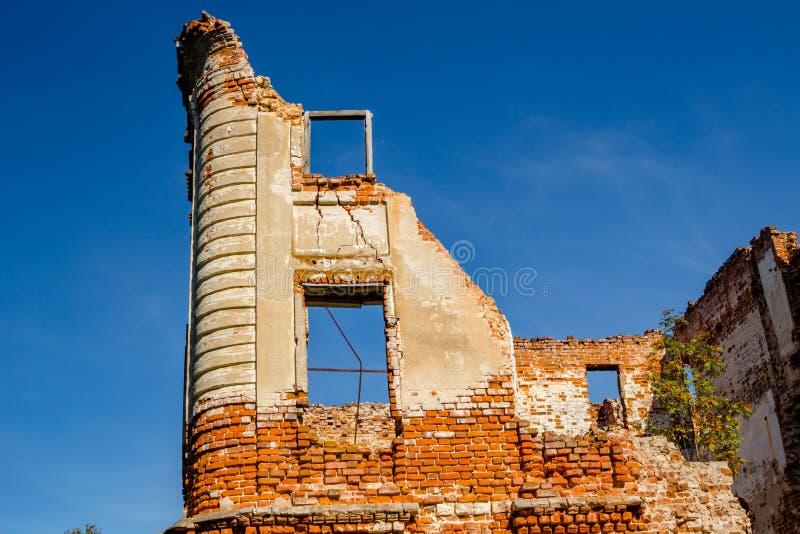 Ruines d'un manoir du 18ème siècle ruiné Belkino images libres de droits