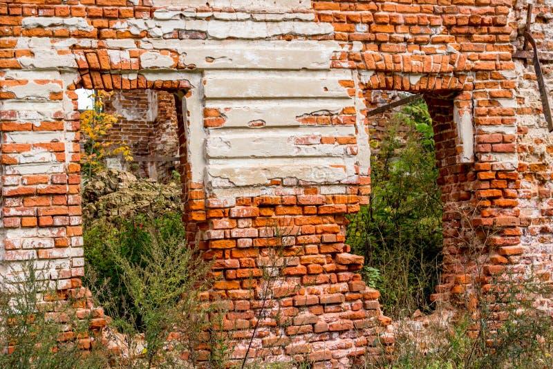 Ruines d'un manoir ruiné du XVIIIème siècle, dehors images libres de droits