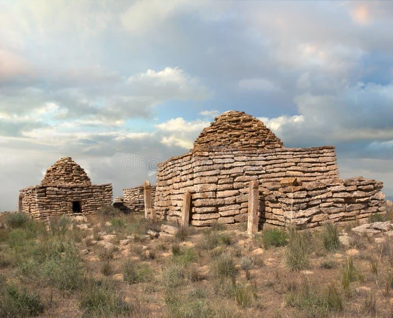 Ruines d'un mausolée antique images stock