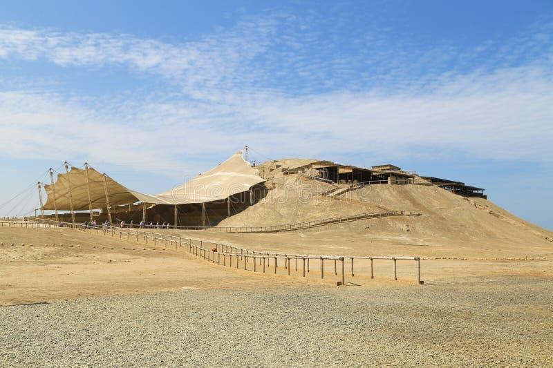 Ruines d'un site de pré-Inca dans le nord du Pérou photographie stock libre de droits