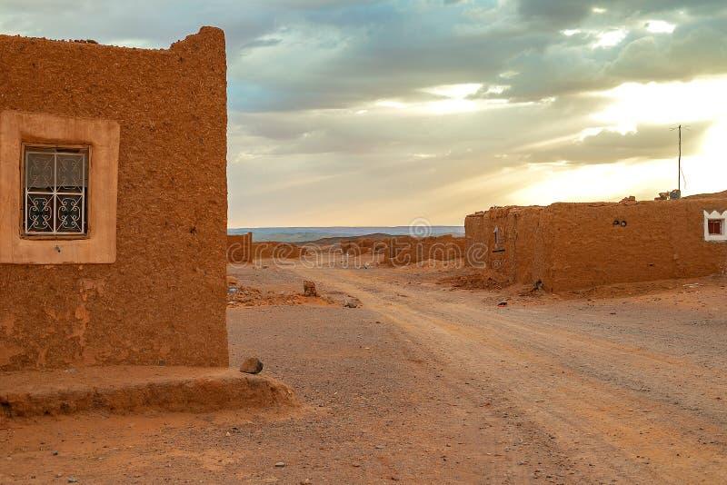 Ruines d'un vieux village marakan traditionnel morocco photographie stock