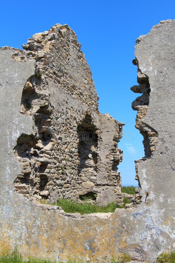 Ruines d'une maison photos libres de droits