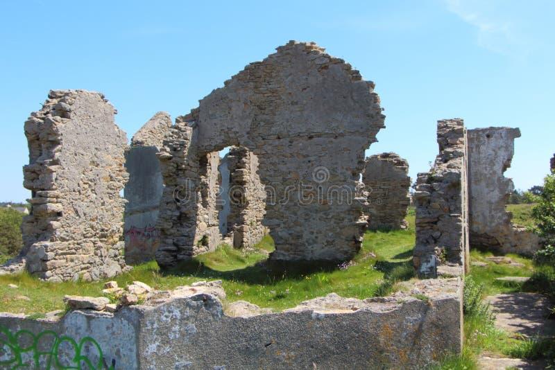 Ruines d'une maison photo libre de droits