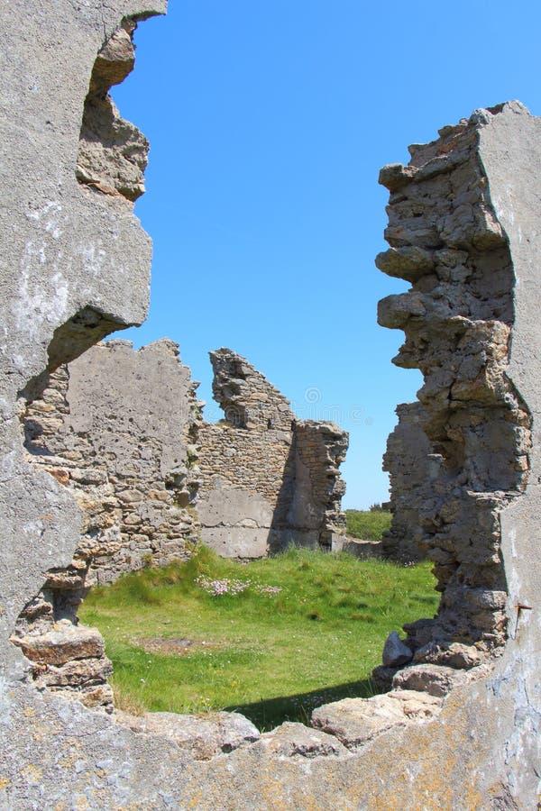 Ruines d'une maison photographie stock
