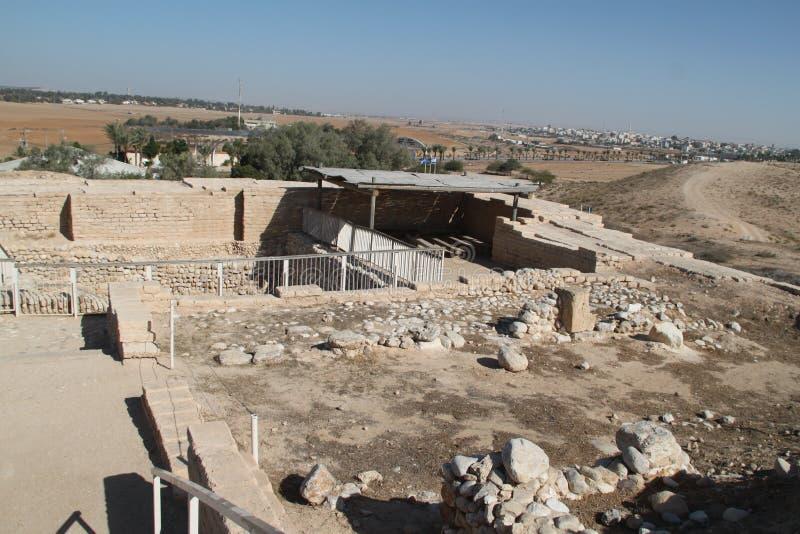 Ruines d'usine de l'eau, bière Sheva, Israël de téléphone images stock