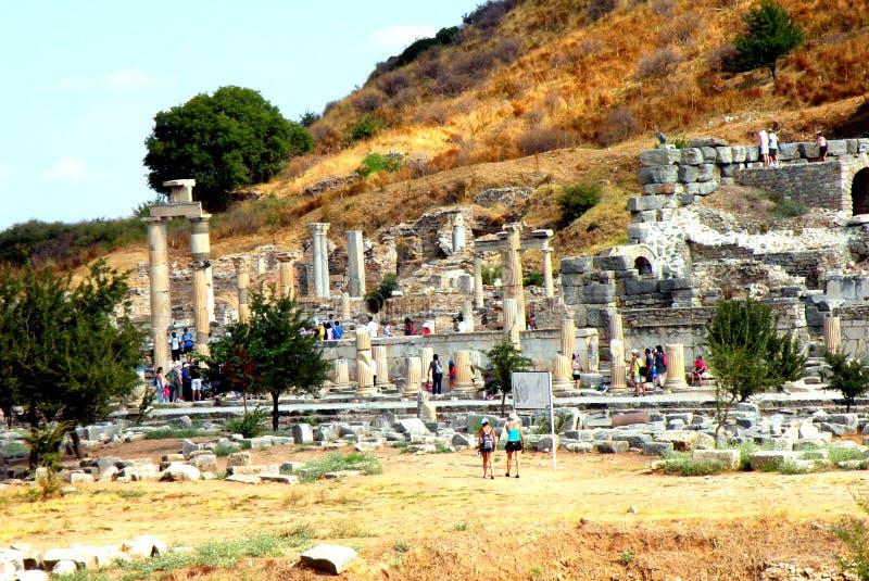 Ruines dans Efes, près d'église de Mary images libres de droits