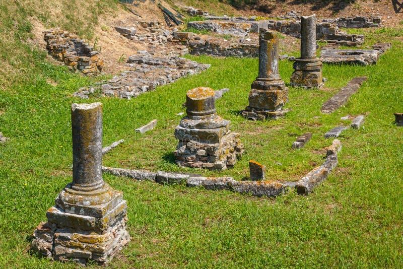 Ruines dans la ville antique d'Aquileia photo stock