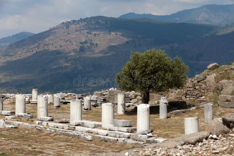 Ruines dans la ville antique de Pergamon photo stock