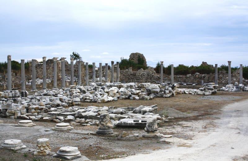 Ruines dans le côté, Turquie photographie stock libre de droits