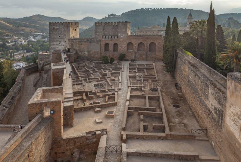 Ruines dans le palais d'Alhambra photo stock