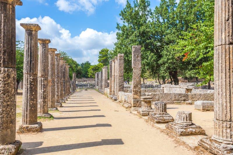 Ruines dans Olympia antique, Peloponnesus, Grèce images stock
