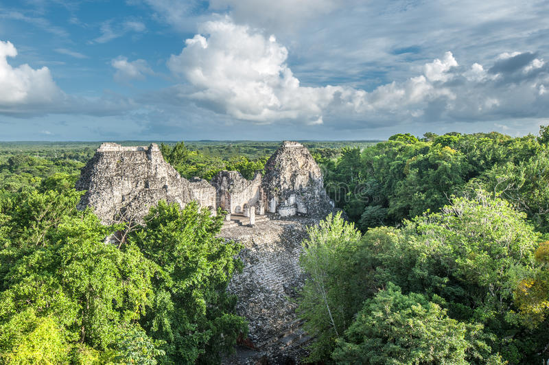 Ruines de Becan, Yucatan, Mexique image stock