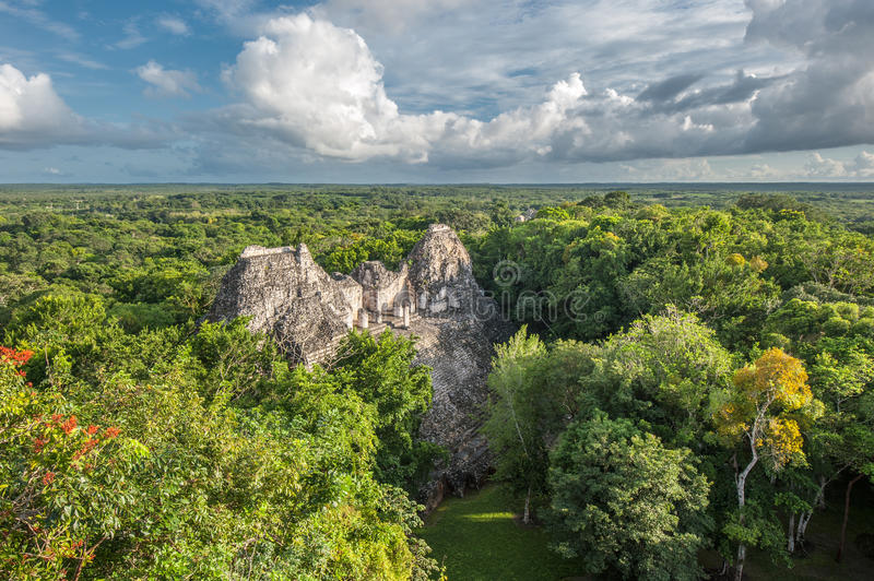 Ruines de Becan, Yucatan, Mexique photographie stock