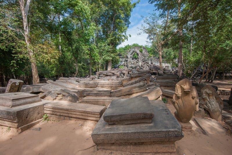 Ruines de Beng Mealea, Angkor, Cambodge images libres de droits