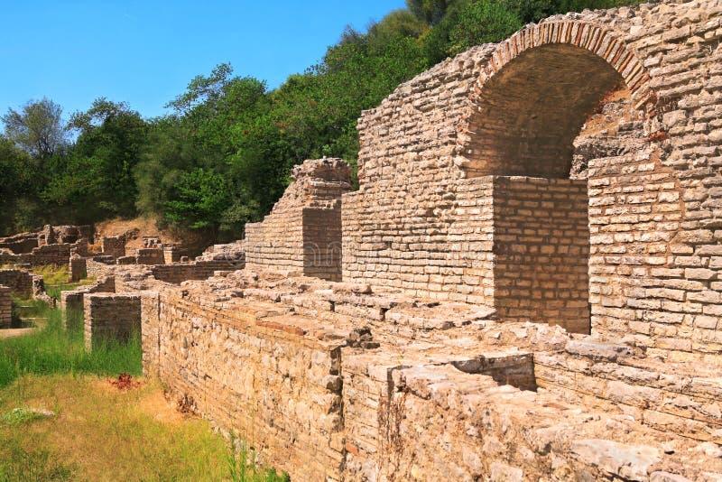 ruines de butrinti de l'Albanie photographie stock libre de droits