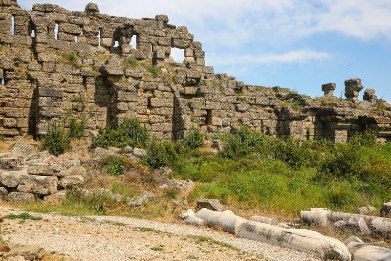 Ruines de côté image libre de droits