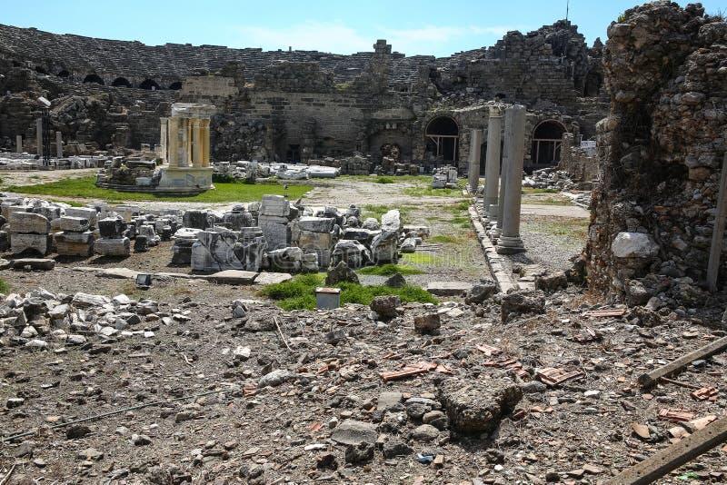 Ruines de côté photographie stock