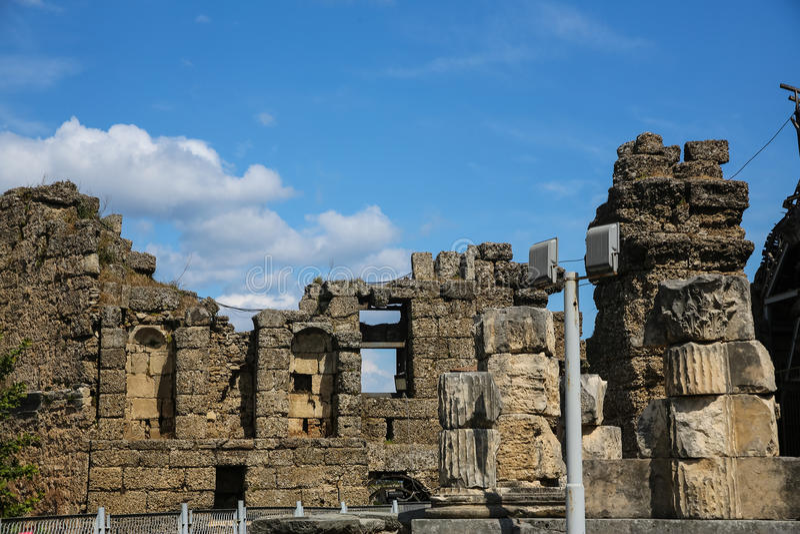 Ruines de côté en Turquie images libres de droits