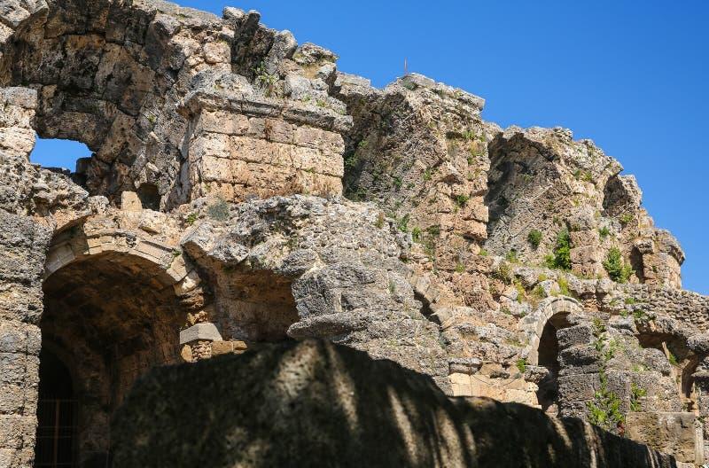 Ruines de côté en Turquie image libre de droits