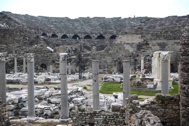 Ruines de côté en Turquie photos stock