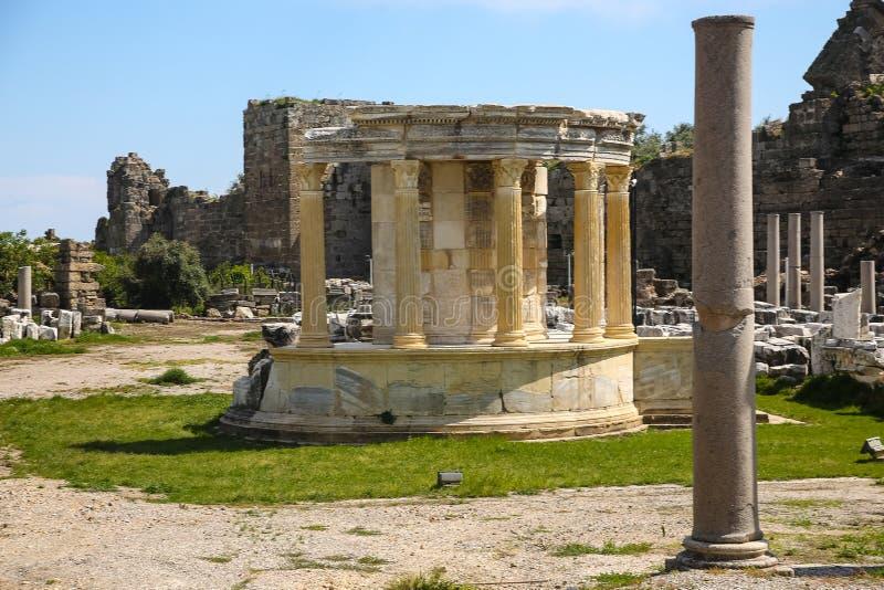 Ruines de côté en Turquie photo libre de droits