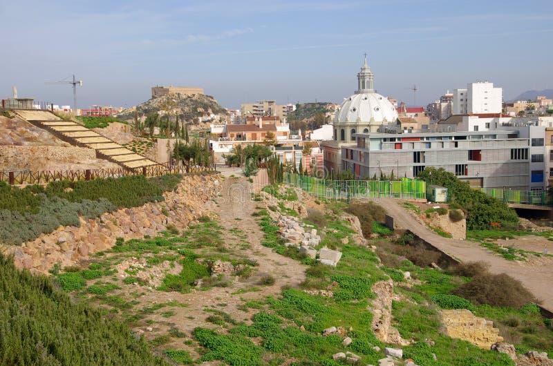 Ruines de Carthagène images stock