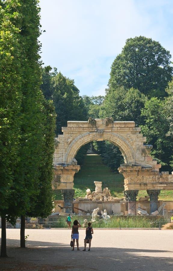 Ruines de Carthage. Schonbrunn. Vienne, Autriche photo stock