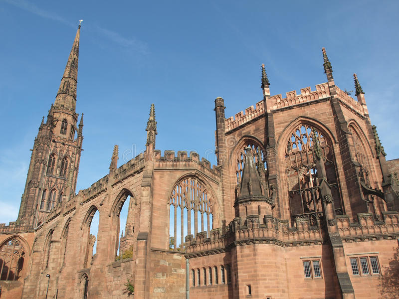 Ruines de cathédrale de Coventry photographie stock libre de droits