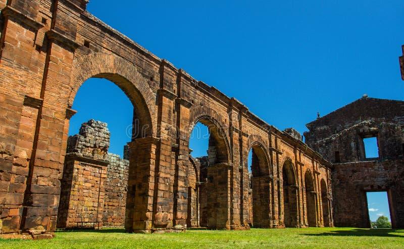 Ruines de cathédrale de sao Miguel DAS Missoes images stock