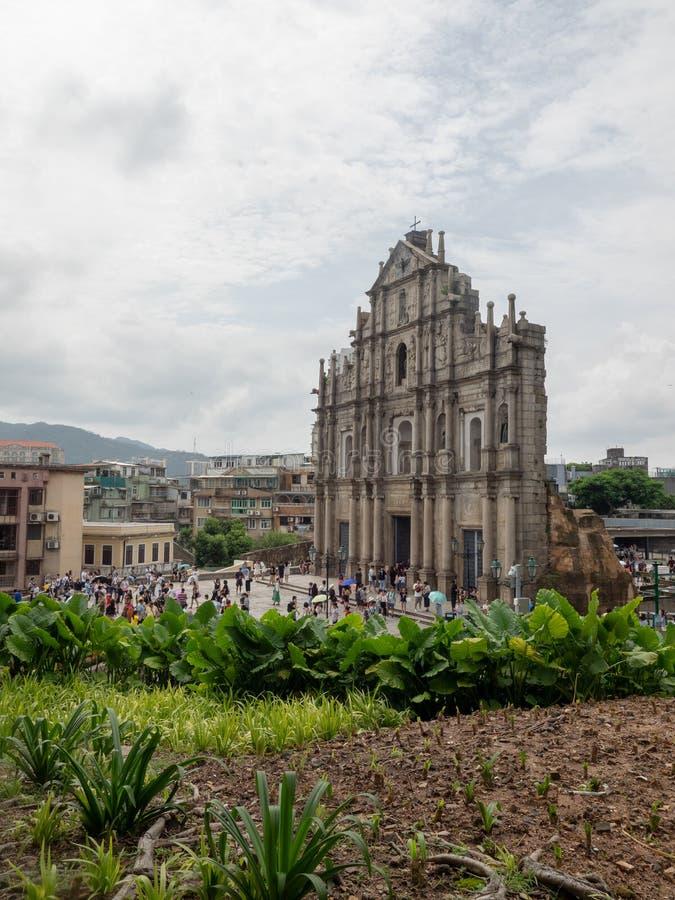 Ruines de cath?drale du ` s de St Paul dans Macao images stock