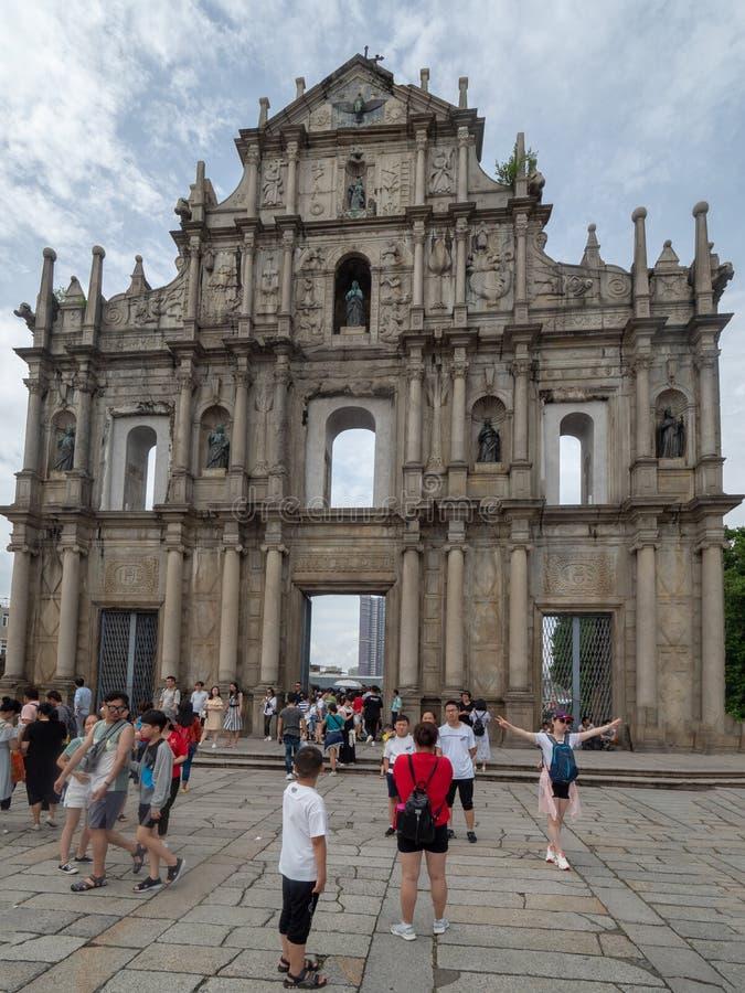 Ruines de cath?drale du ` s de St Paul dans Macao image stock