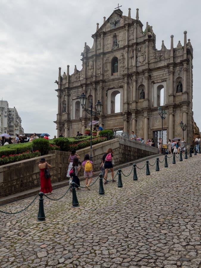 Ruines de cath?drale du ` s de St Paul dans Macao photographie stock
