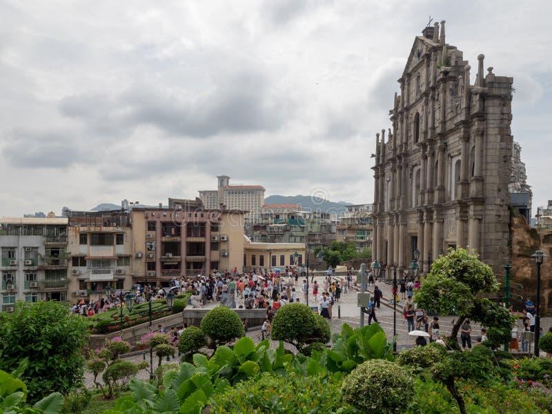 Ruines de cath?drale du ` s de St Paul dans Macao photo libre de droits