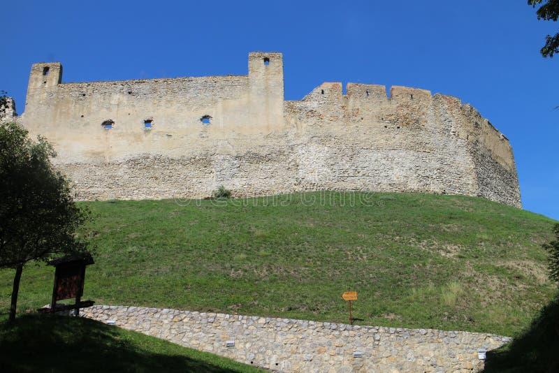 Ruines de château de Beckov photo libre de droits