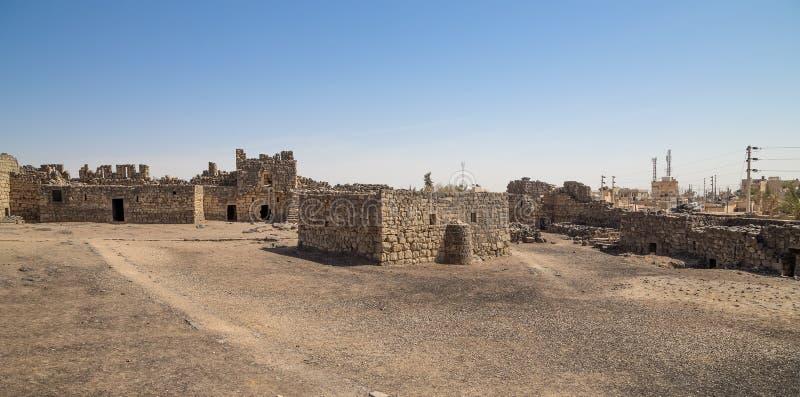 Ruines de château d'Azraq, Jordanie central-orientale photo stock
