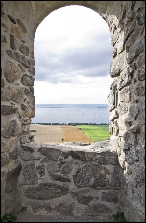 Ruines de château de Brahehus photo libre de droits