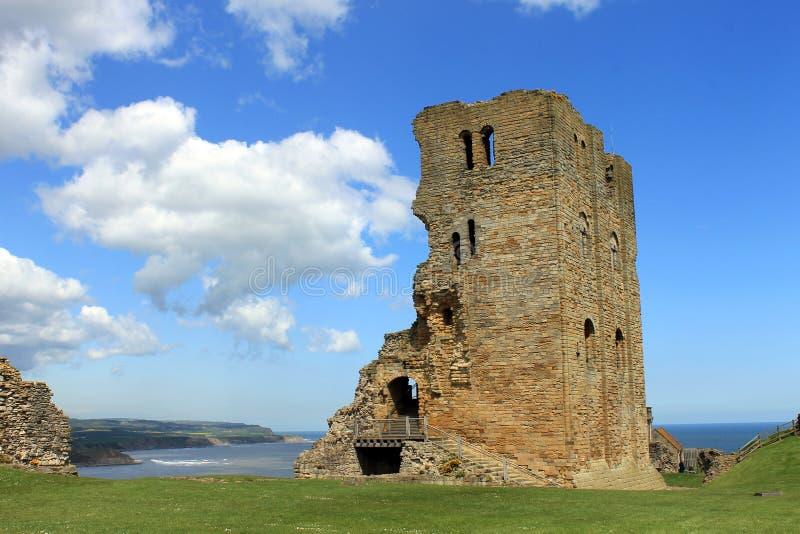 Ruines de château de Scarborough photographie stock libre de droits