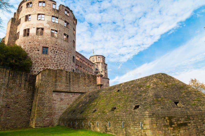 Ruines de château médiéval - Heidelberg l'allemagne photos libres de droits