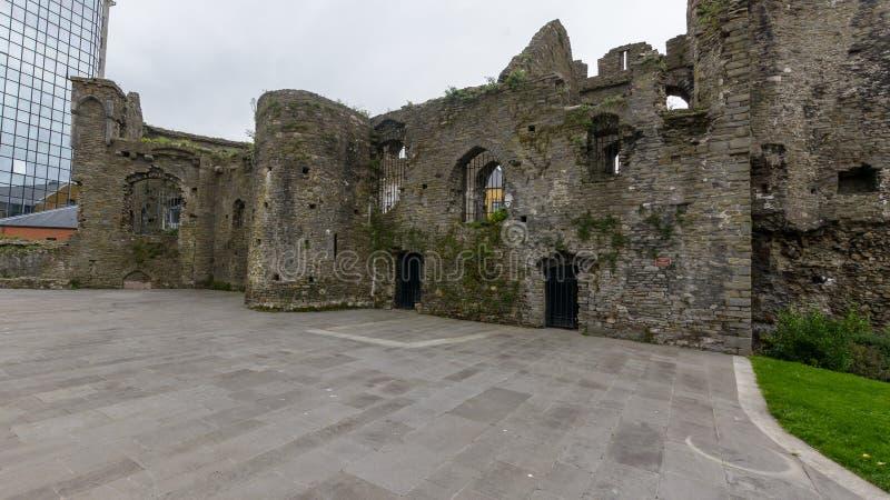 Ruines de château de Swansea photo stock